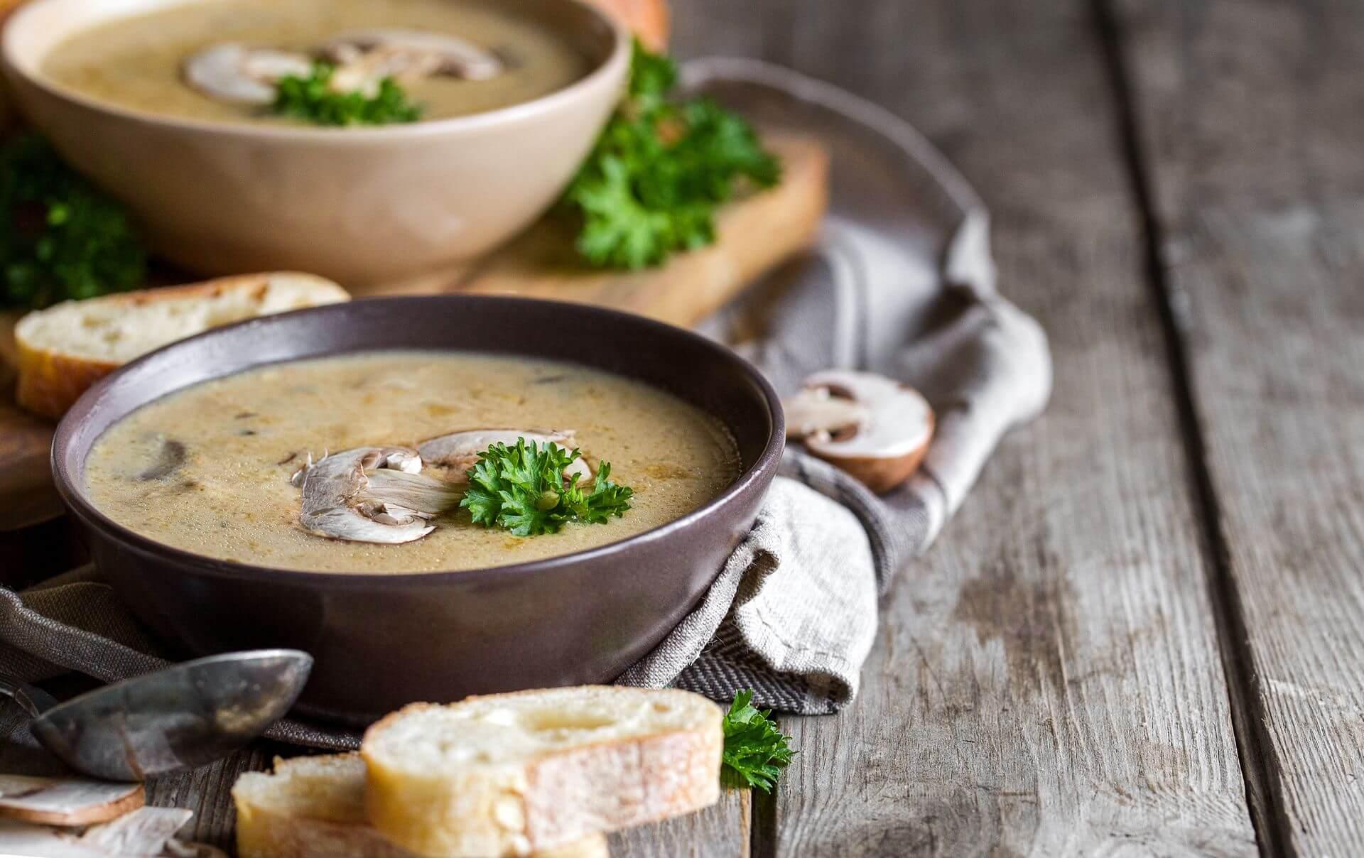 суп с фаршем и грибами