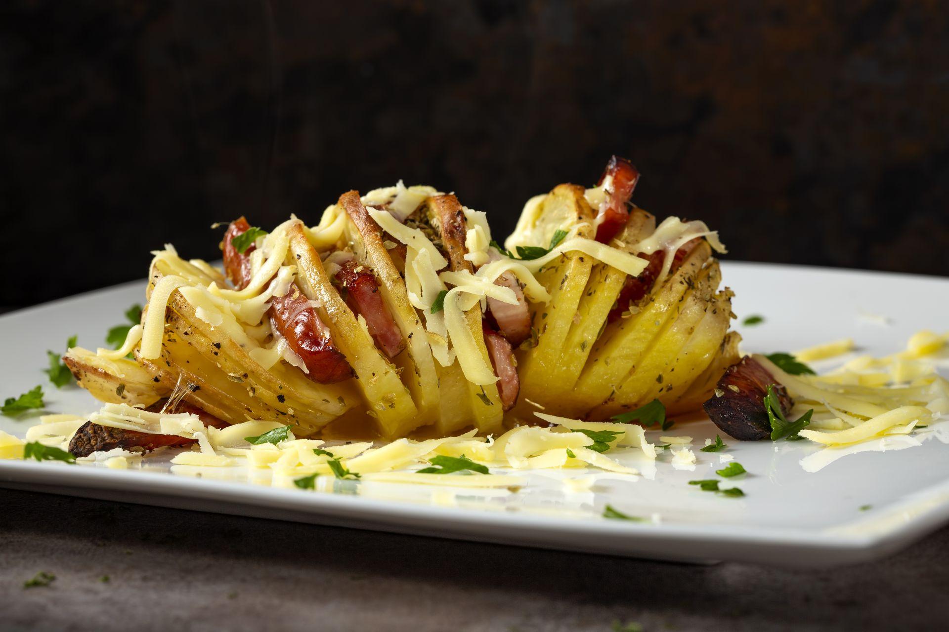 картошка гармошка рецепт